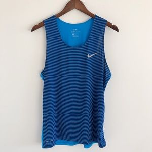 Men's Nike Dri-Fit Printed Racing Singlet Med